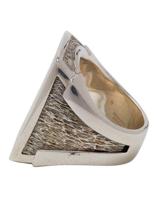 メンズ Bottega Veneta シルバー チャンキー シュバリエ リング Metallic