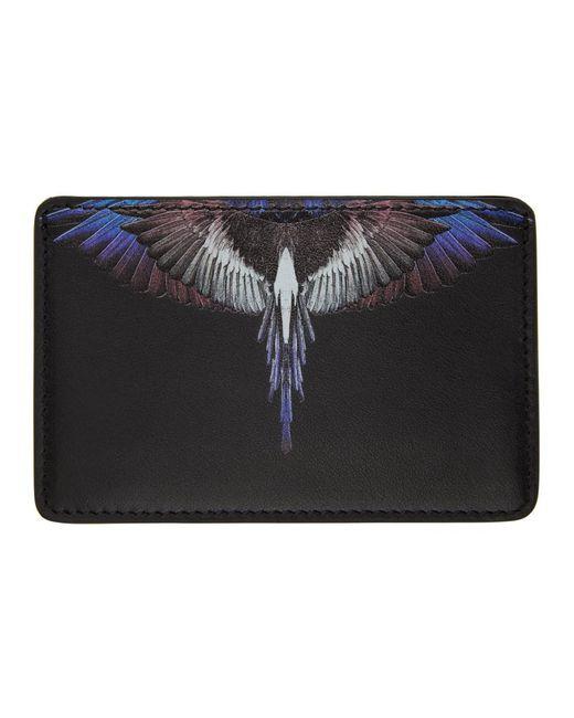 メンズ Marcelo Burlon ブラック Wings カード ケース Black