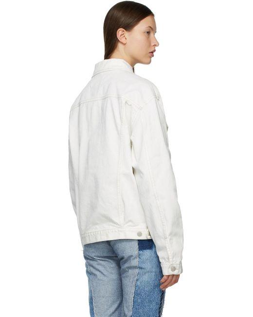Maison Margiela ホワイト オーバーサイズ デニム ジャケット White