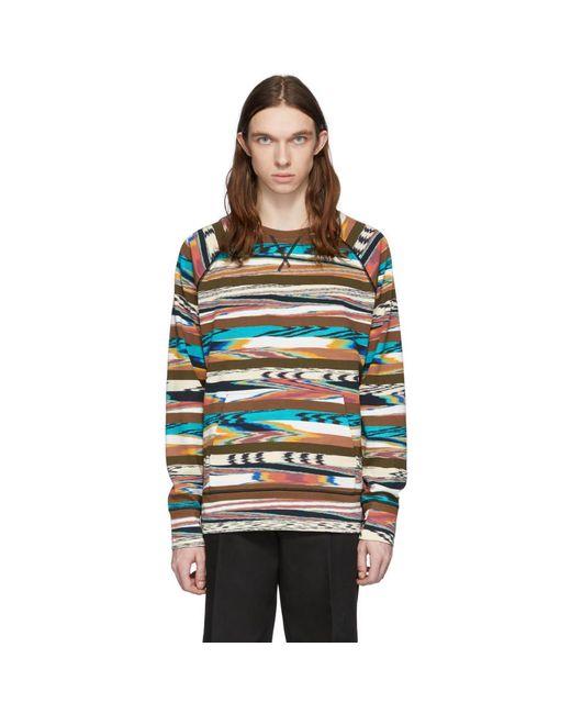 メンズ Missoni ブラウン And マルチカラー プリント スウェットシャツ Multicolor