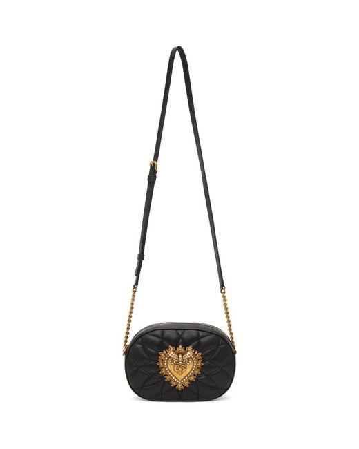 Dolce & Gabbana ブラック Devotion バッグ Black