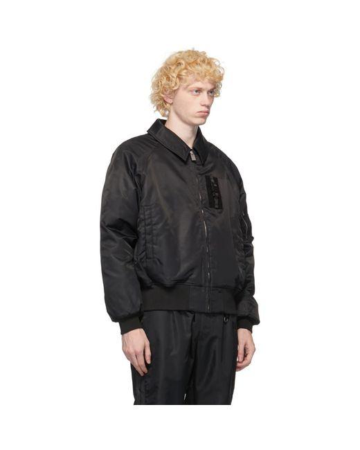 メンズ 1017 ALYX 9SM ブラック インシュレーション ボンバー ジャケット Black