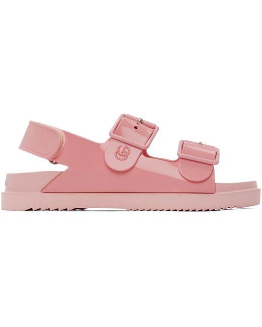 Gucci ピンク GG サンダル Pink