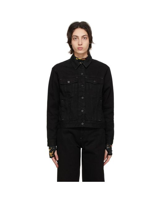 McQ Alexander McQueen No.0 コレクション ブラック デニム ジャケット Black