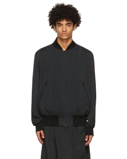 メンズ Y-3 ブラック ボンバー ジャケット Black