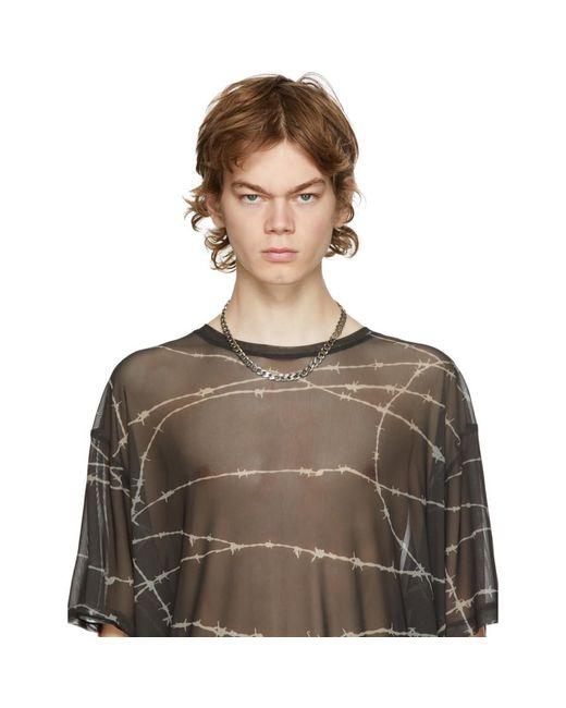 メンズ Emanuele Bicocchi シルバー エッジ チェーン ネックレス Metallic