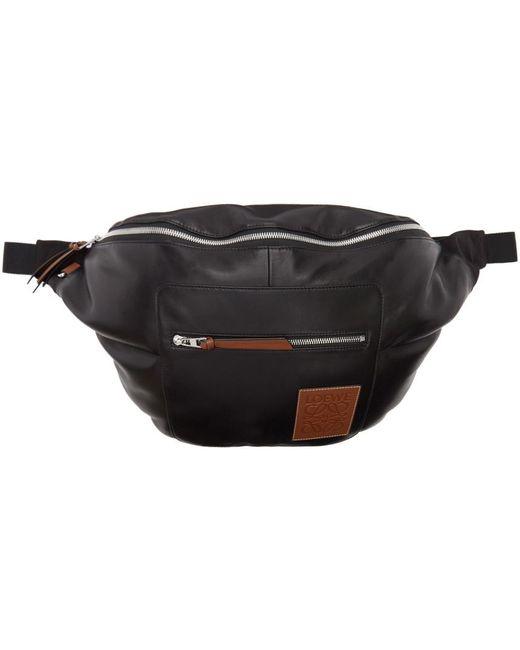 メンズ Loewe ブラック ナッパ エクストラ ラージ メッセンジャー バッグ Black