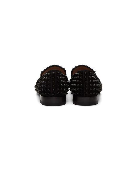 8c263b998c9 ... Christian Louboutin - Black Dandelion Spikes Loafers for Men - Lyst ...