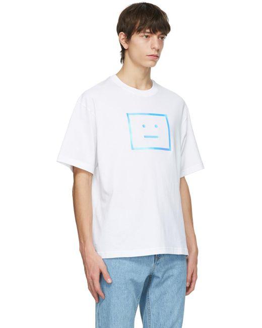メンズ Acne ホワイト T シャツ White
