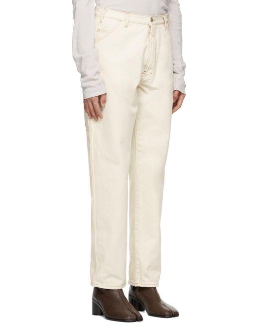 メンズ Maison Margiela オフホワイト ワークウェア ジーンズ White