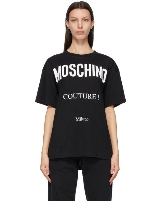Moschino ブラック Couture! T シャツ Black
