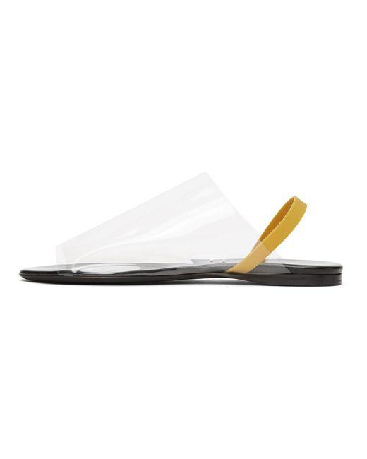 The Row トランスペアレント フラット サンダル Multicolor