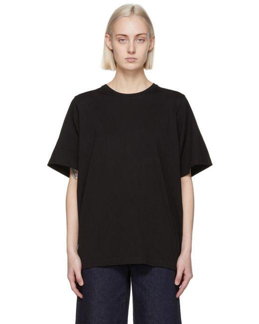 Totême  ブラック オーバーサイズ T シャツ Black