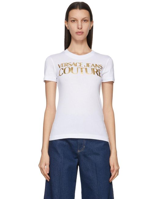 Versace Jeans ホワイト Institutional ロゴ T シャツ White