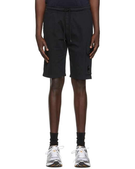 メンズ C P Company ブラック Garment Dyed カーゴ ショーツ Black