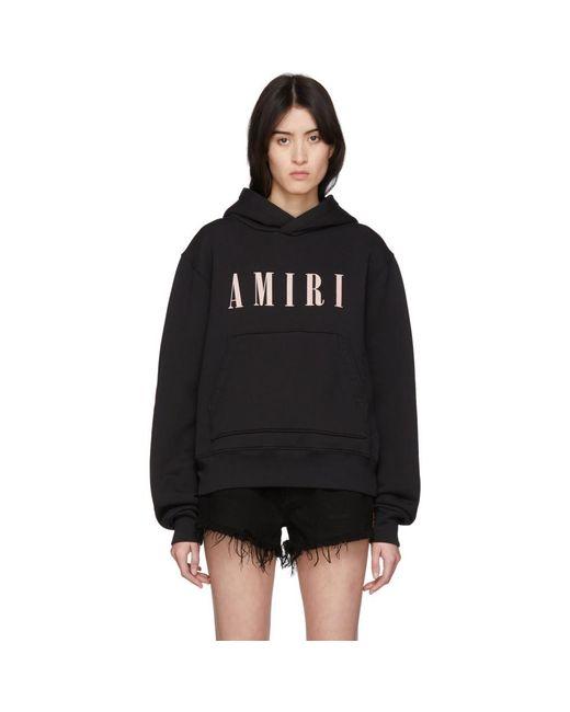 Amiri Black Logo Core Hoodie