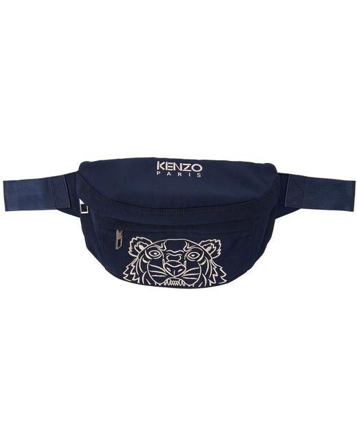 メンズ KENZO ネイビー Tiger バム バッグ Blue