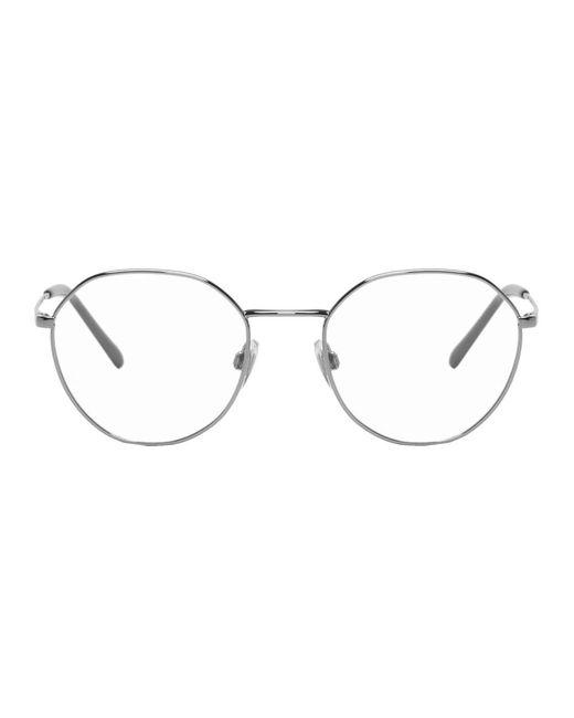 メンズ Dolce & Gabbana ガンメタル メタル ラウンド メガネ Metallic