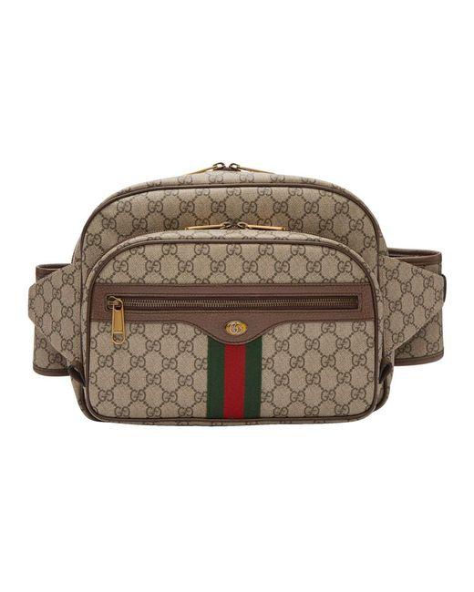 086c906fe31 Gucci - Natural Sac-ceinture brun GG Supreme Ophidia for Men - Lyst ...