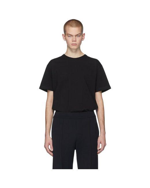 メンズ Bottega Veneta ブラック ステッチ T シャツ Black