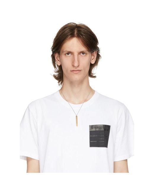 メンズ Maison Margiela シルバー And ゴールド ペンダント ネックレス Metallic