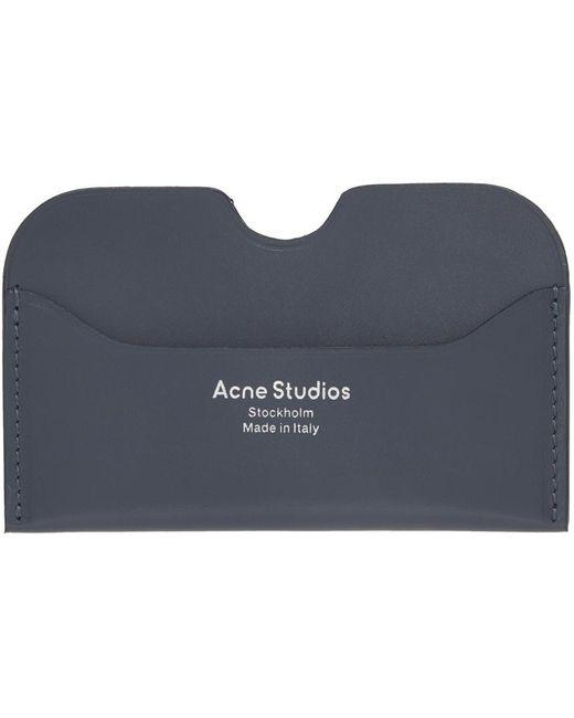 メンズ Acne グレー ロゴ カード ケース Gray