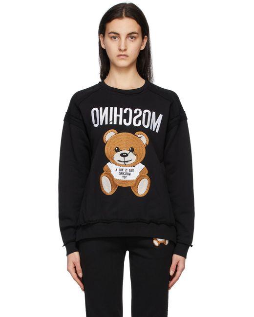 Moschino ブラック Inside Out Teddy Bear スウェットシャツ Black