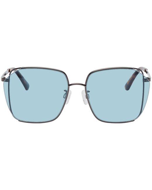 McQ Alexander McQueen ブルー スクエア Iconic サングラス Blue