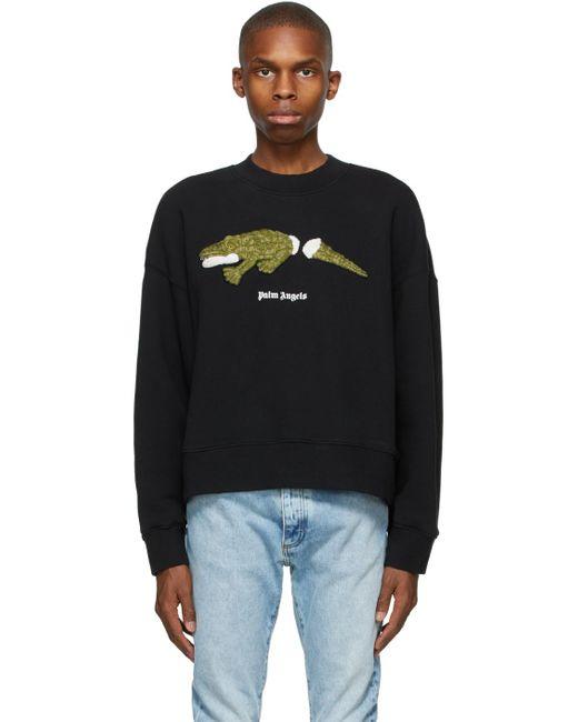 メンズ Palm Angels ブラック Croco スウェットシャツ Black