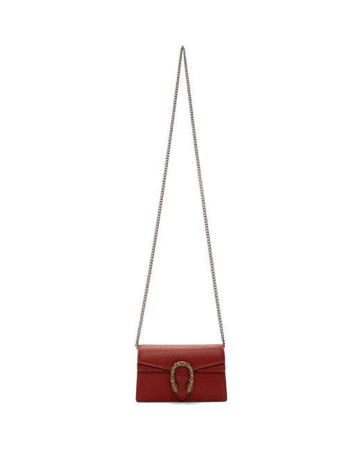 Gucci Multicolor Red Super Mini Dionysus Wallet Bag