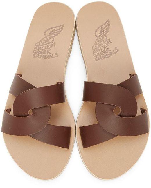 Ancient Greek Sandals ブラウン Desmos サンダル Brown