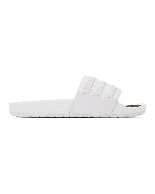 Adidas Originals ホワイト アディレッタ Boost サンダル White