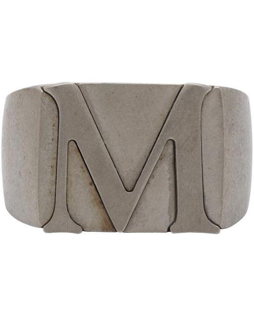 メンズ Maison Margiela シルバー M シグネット リング Metallic