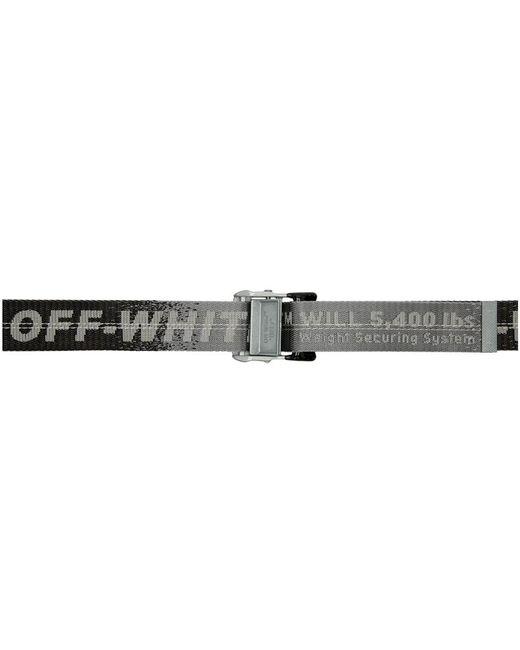 Off-White c/o Virgil Abloh Gray Grey Gradient Industrial Belt