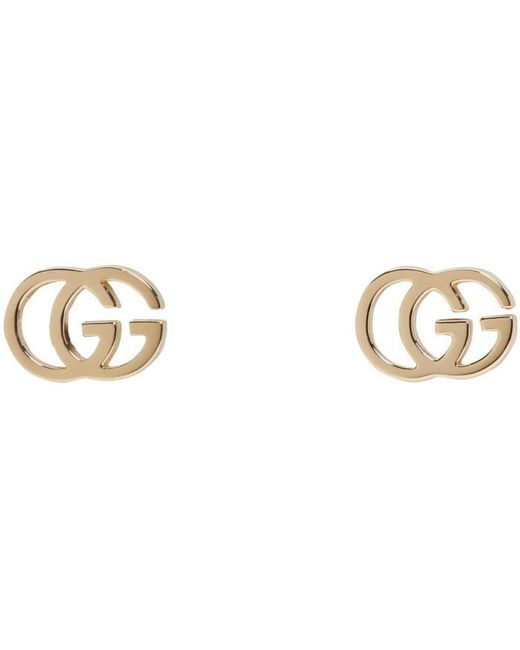 Gucci | Metallic Gold Logo Tissue Earrings | Lyst