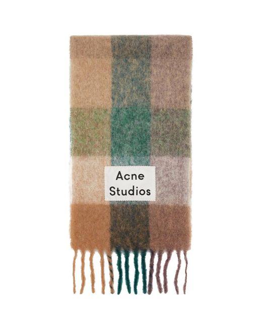 Acne ブルー And パープル Valley マフラー Multicolor