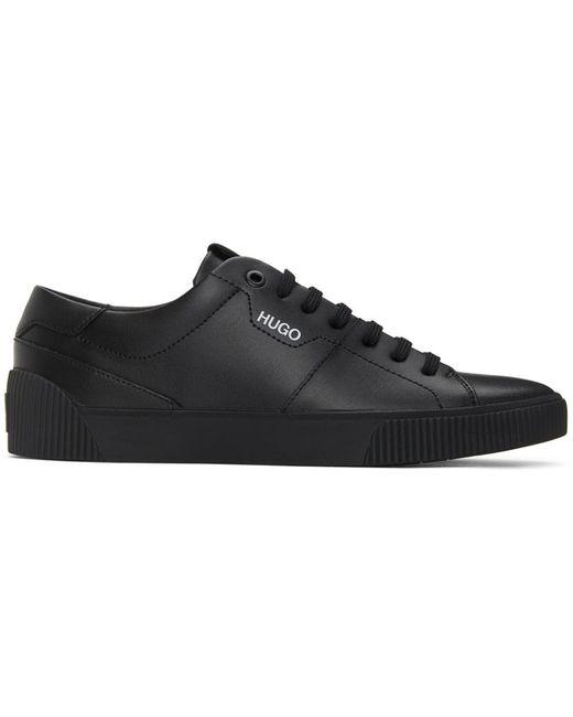 メンズ HUGO ブラック Zero Tennis スニーカー Black
