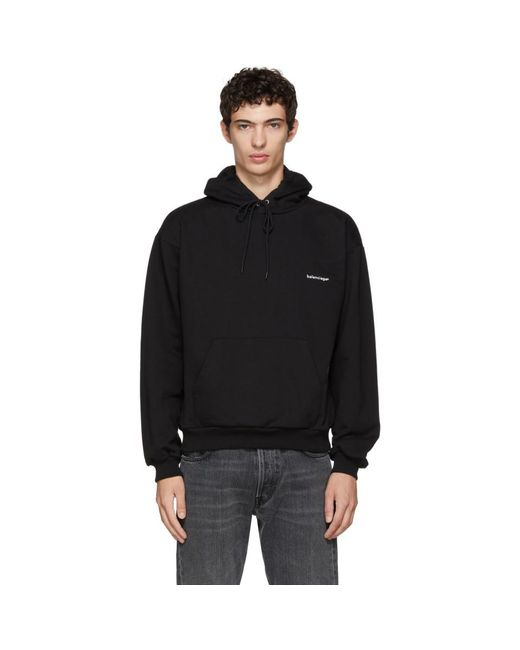 Balenciaga Black ® Hoodie for men
