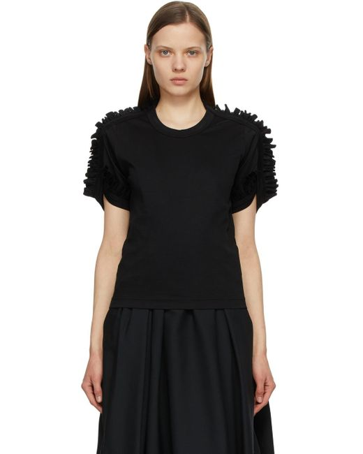 Noir Kei Ninomiya ブラック Ponte Ruched T シャツ Black
