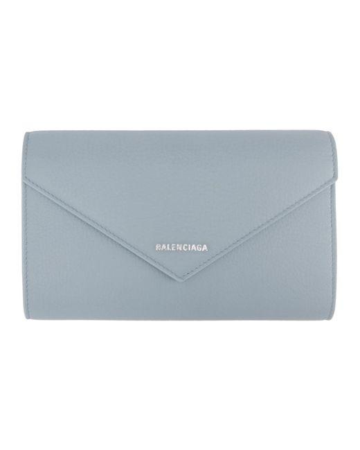 Balenciaga - Blue Portefeuille a glissiere bleu Paper - Lyst