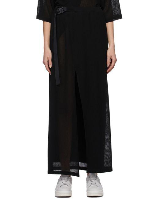 Y-3 ブラック Airy Gauze スカート Black