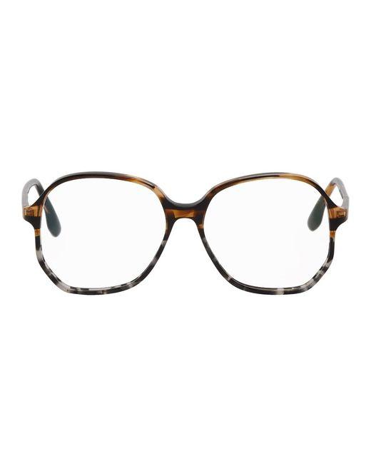 Victoria Beckham トータスシェル オーバーサイズ ビンテージ メガネ Multicolor