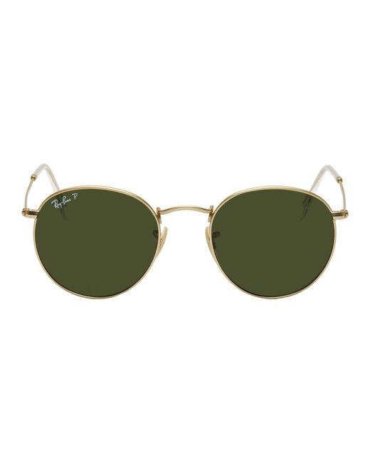 Ray-Ban - Multicolor Gold And Green Round Phantos Sunglasses for Men - Lyst