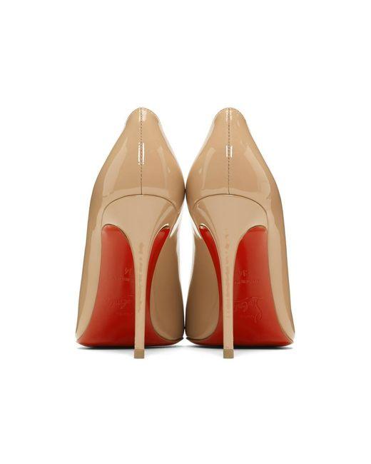 57ba69cb420b ... Christian Louboutin - Natural Pink Patent Pigalles Follies Heels - Lyst  ...
