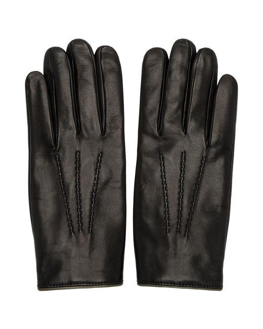 Gants doubles de cachemire noirs Dolce & Gabbana pour homme en coloris Black