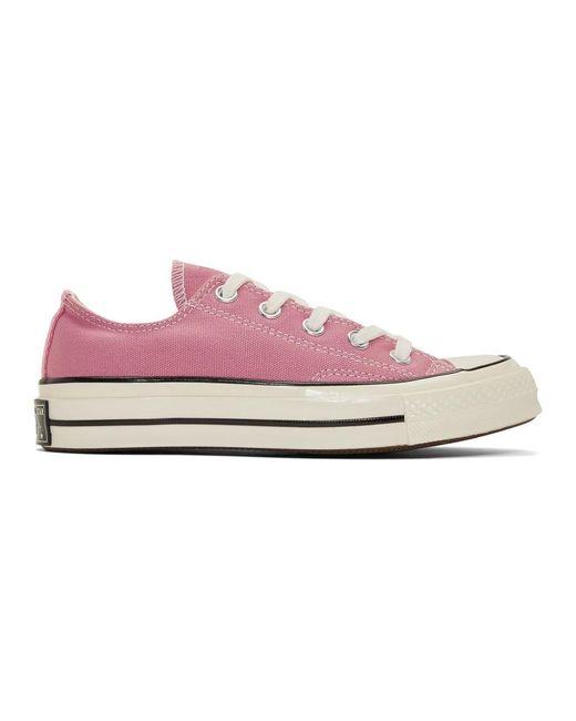 Converse ピンク Chuck 70 ロー スニーカー Pink