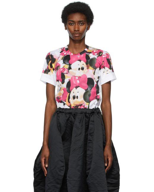 Comme des Garçons Disney エディション ホワイト プリント T シャツ Multicolor