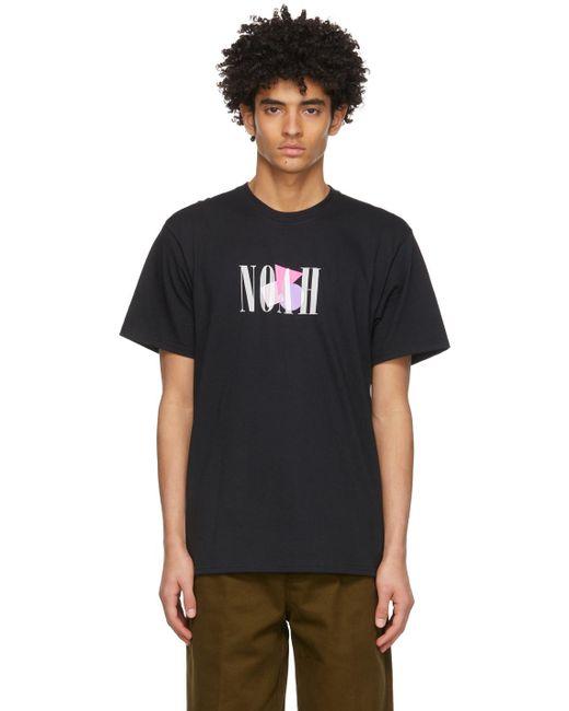 メンズ Noah NYC ブラック Shapes ロゴ T シャツ Black