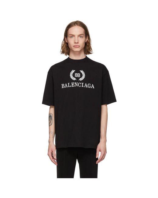 T-shirt noir BB Balenciaga pour homme en coloris Black