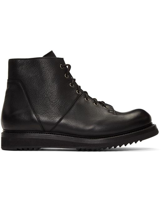Rick Owens Black Monkey Creeper Sole Boots for men